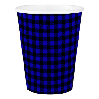 Blue Lumberjack Buffalo Plaid Paper Cup