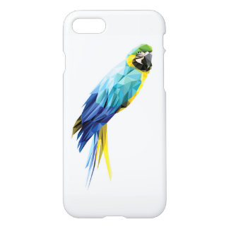 Blue Macaw low polygon bird iPhone 8/7 Case