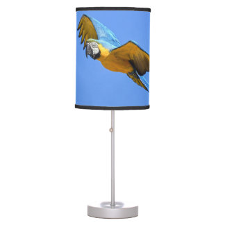 Blue macaw table lamp