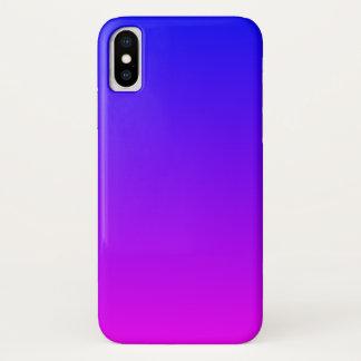 Blue Magenta Gradient iPhone X Case