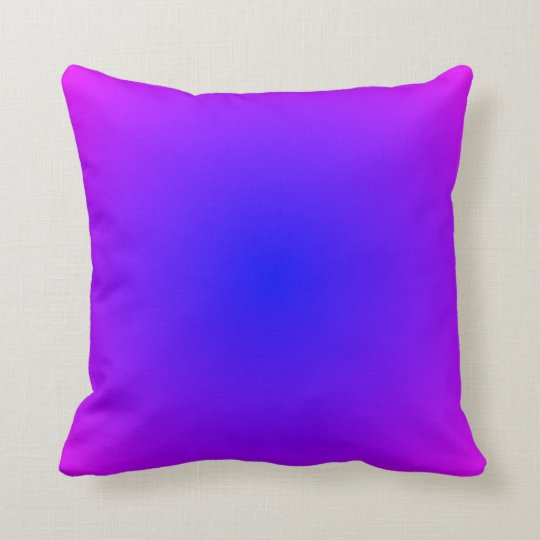 Blue Magenta Gradient Pillow