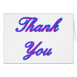 Blue Magenta Thank You Design The MUSEUM Zazzle Gi Cards
