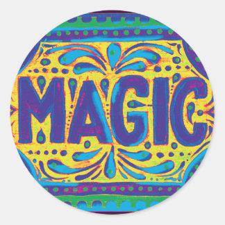 Blue Magic Classic Round Sticker