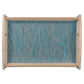 Blue Magic Forest Ornamental Relief Serving Tray