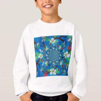 Blue Magnolia Flower Swirl Design Sweatshirt