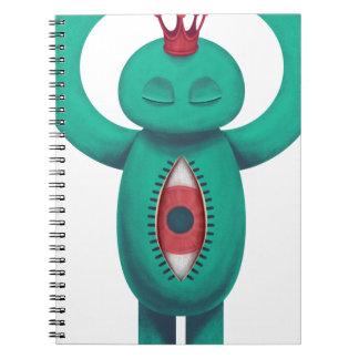 Blue man flame king spiral notebook