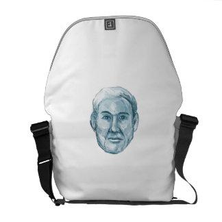 Blue Man Identikit Drawing Commuter Bags