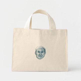 Blue Man Identikit Drawing Mini Tote Bag