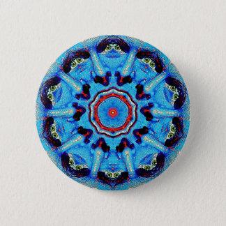 Blue Man Mandala Button