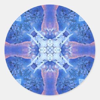 Blue Mandala Classic Round Sticker