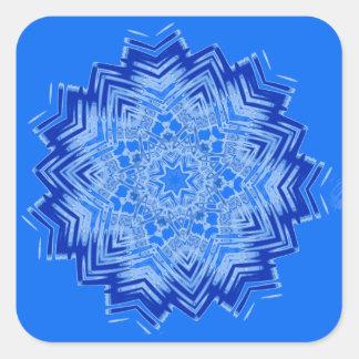 Blue Mandala Design on Stickers