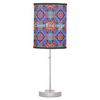 Blue mandala hearts pattern Thunder_Cove Table Lamp