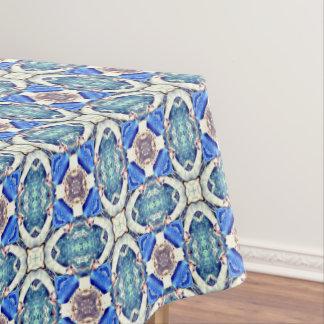 Blue mandala hearts pattern Thunder_Cove Tablecloth