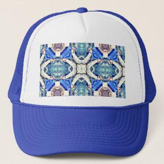 Blue mandala hearts pattern Thunder_Cove Trucker Hat