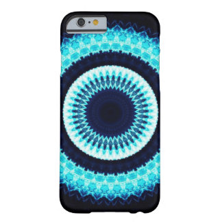 Blue mandala kaleidoscope barely there iPhone 6 case