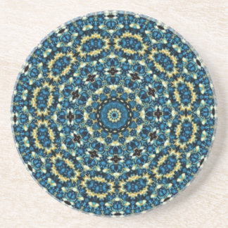 Blue Mandala Pattern Coaster
