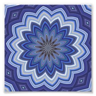 Blue Mandala Art Photo