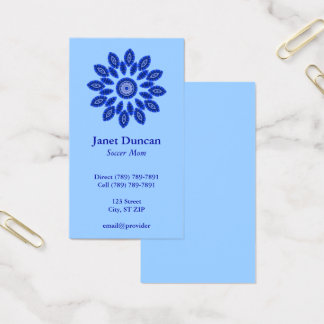 Blue Mandala Profile Business Card