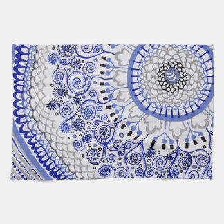Blue Mandala Tea Towel