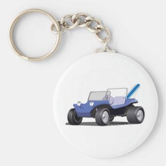 Blue Manx Side Keychain