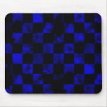 Blue marble Chequerboard Mouse Pads