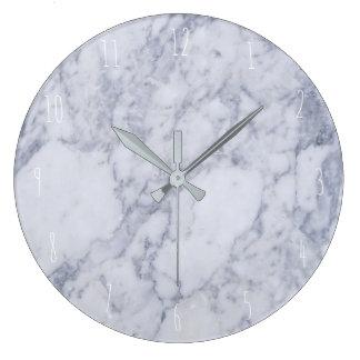 blue marble elegant large clock