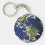 Blue Marble_Make Every Day Earth Day Basic Round Button Keychain