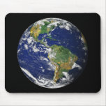 Blue Marble Mouse Mats