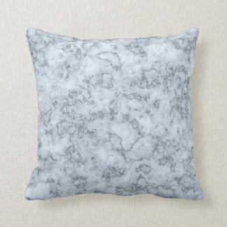 Blue marble throw pillow