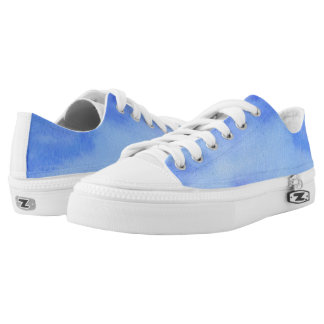 Blue Marble Watercolour Low-Top Sneakers