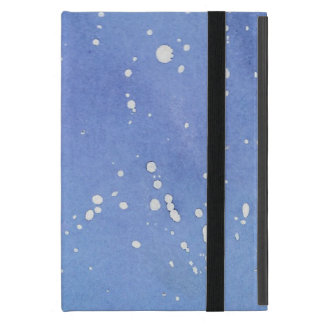 Blue Marble Watercolour Splat iPad Mini Cover