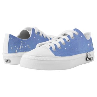 Blue Marble Watercolour Splat Low-Top Sneakers