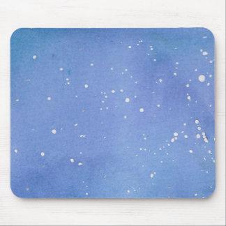 Blue Marble Watercolour Splat Mouse Pad