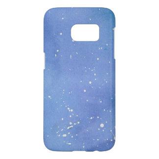 Blue Marble Watercolour Splat Samsung Galaxy S7 Case