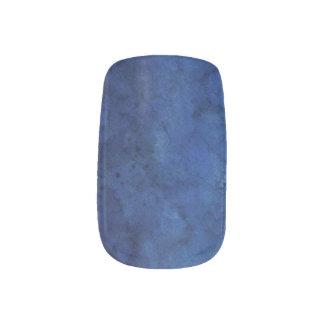 Blue Marble Wedding Minx Nail Art