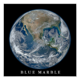 Blue Marble West Poster