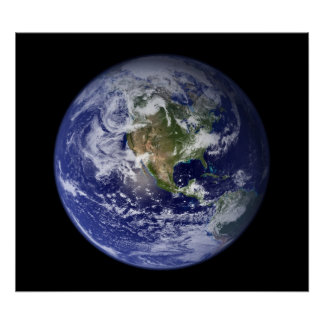 Blue Marble West View of Earth Poster