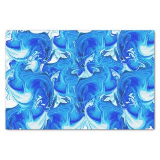 Blue marbled texture, rich ebru technique tissue paper