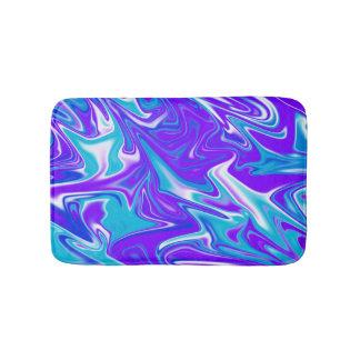 Blue Marbleized Sky, Small Memory Foam Bath Mat