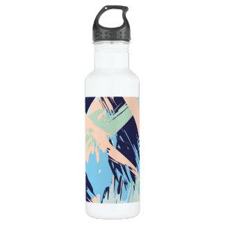Blue Maritime Nautical Brushstroke Pattern 710 Ml Water Bottle