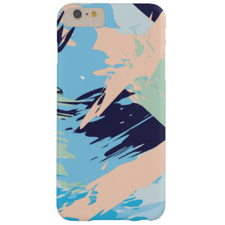 Blue Maritime Nautical Brushstroke Pattern Barely There iPhone 6 Plus Case