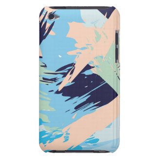 Blue Maritime Nautical Brushstroke Pattern Barely There iPod Covers