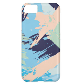 Blue Maritime Nautical Brushstroke Pattern Case For iPhone 5C