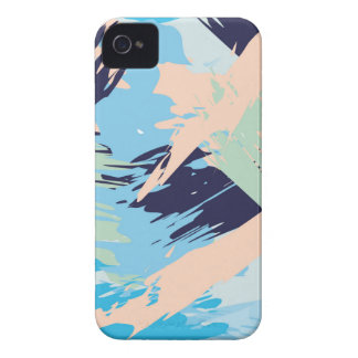 Blue Maritime Nautical Brushstroke Pattern Case-Mate iPhone 4 Case
