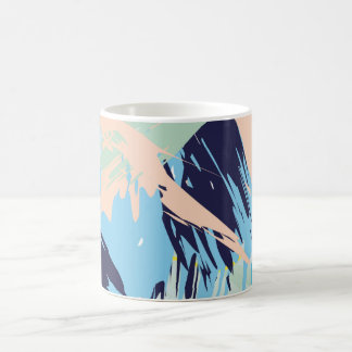 Blue Maritime Nautical Brushstroke Pattern Coffee Mug