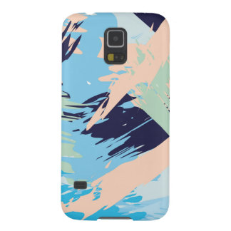 Blue Maritime Nautical Brushstroke Pattern Galaxy S5 Cover