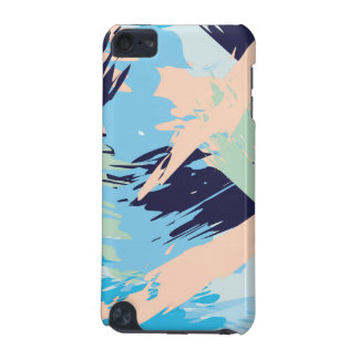 Blue Maritime Nautical Brushstroke Pattern iPod Touch 5G Covers