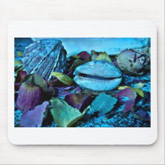 Blue maritime Symphony OF Seashell Mouse Pad