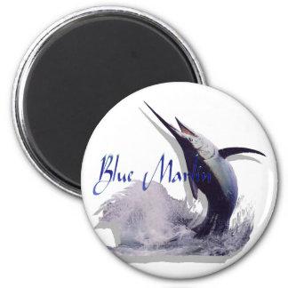 blue marlin 2 inch round magnet