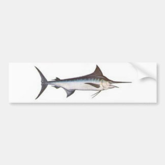 Blue Marlin Car Bumper Sticker